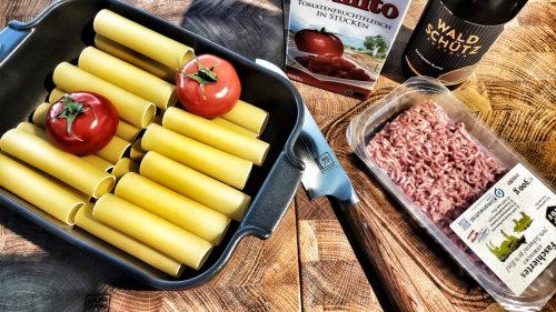Cannelloni mit Hackfleischfülle